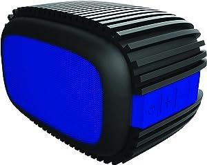 Sharper Image Bluetooth Speaker 4.0 Water Splash-Proof, Rugged Design for Outdoors (Black/Blue)
