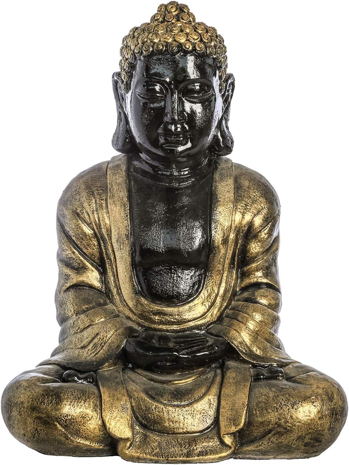 Garden Decoration Sitting Buddha Statue Metallic Fk715d Buda Tibetano Grande Dorado Price In Uae Amazon Uae Kanbkam