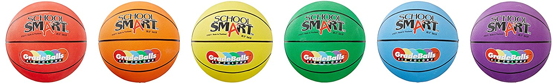 School Smart 016271 28.5 In. Gradeball Rubber Womens Basketballs, Set - 6 B0042SR6J4