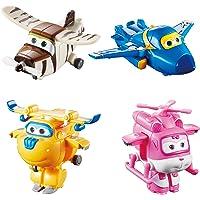 "Auldey- Super Wings Pack de 4 Figurines transformables ""Transform-a-bot"" 5 cm - JEROME/DONNIE/DIZZY/BELLO -YW710620"