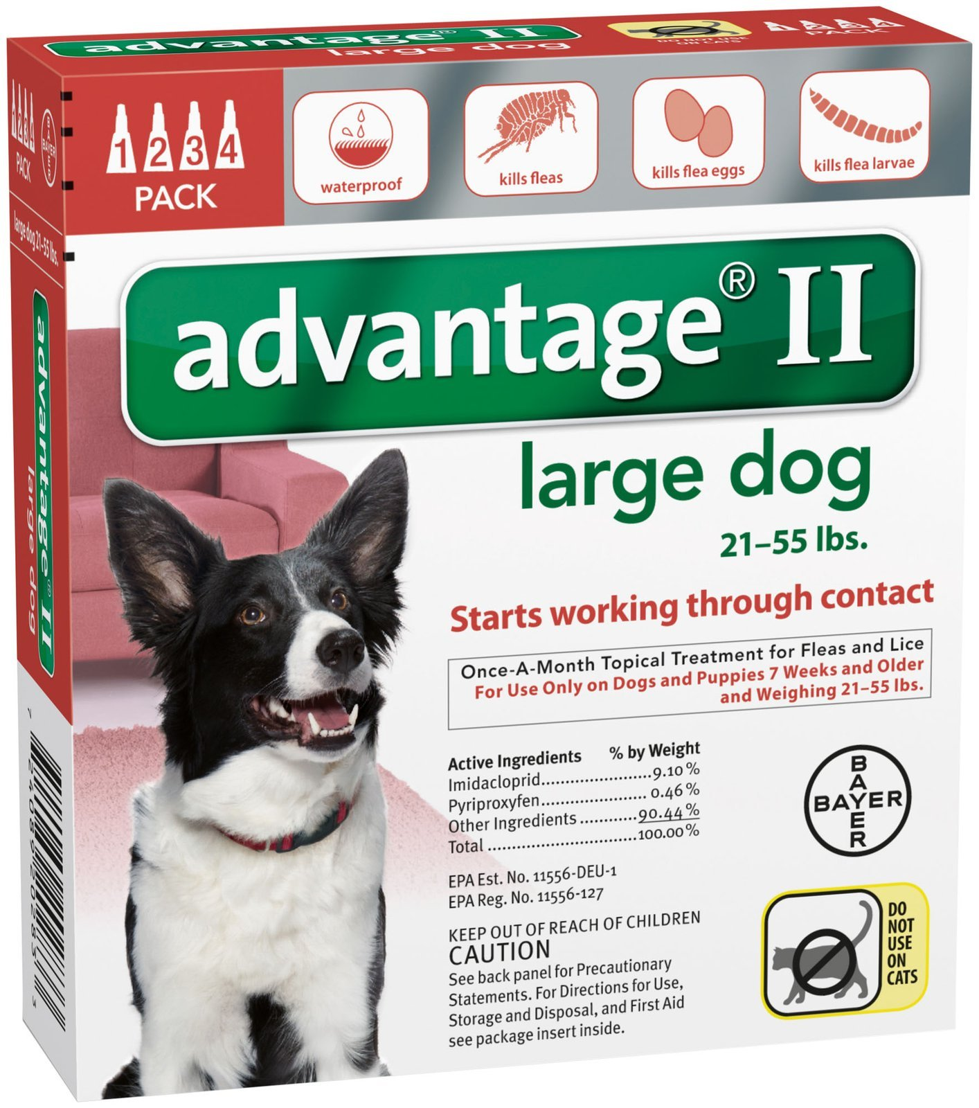 Advantage II Large Dog 4-Pack