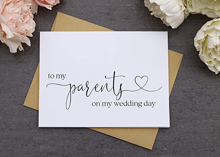 Amazon Com To My Parents On My Wedding Day Card Wedding Thank You