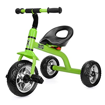 Xootz Tricycle for Kids, Trike Easy Clip and Portable - Green: Toys & Games