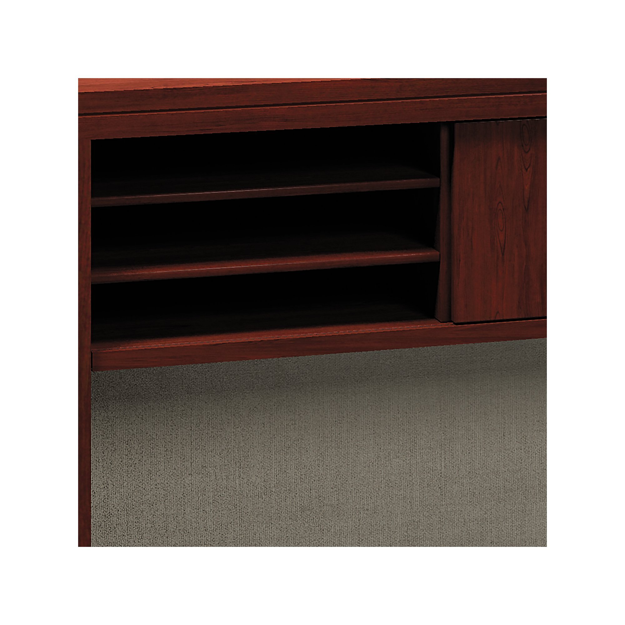 Bush Low Hutch, 60-Inch by 12-Inch by 27-5/8-Inch, Harvest Cherry by Bush (Image #3)