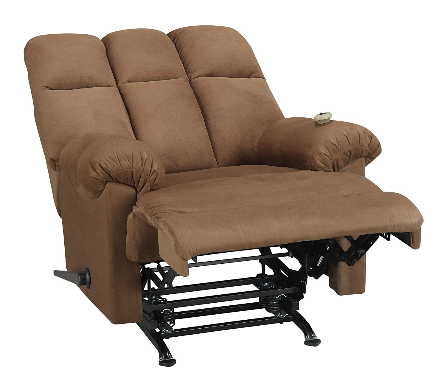amazoncom dorel living padded dual massage recliner chocolate kitchen u0026 dining