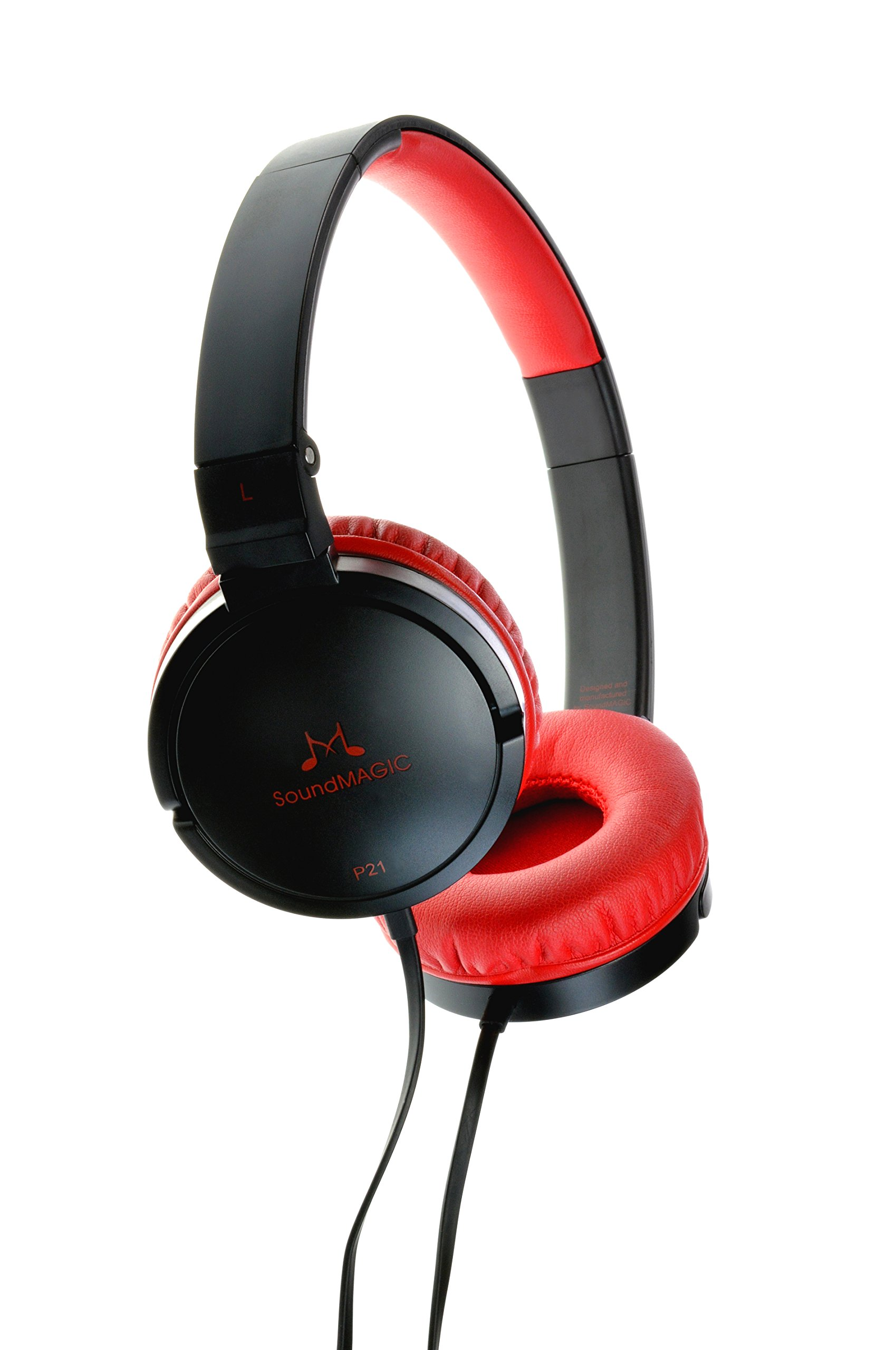 SoundMAGIC Headphones Black/Red (P21 Black/Red)