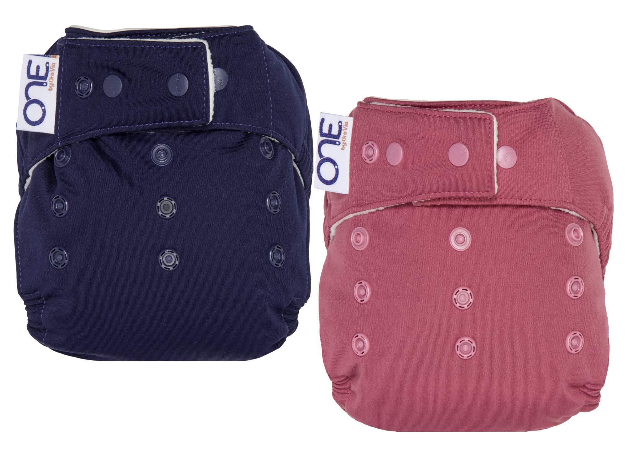 GroVia O.N.E. Reusable Baby Cloth Diaper - 2 Pack (Color Mix 1)