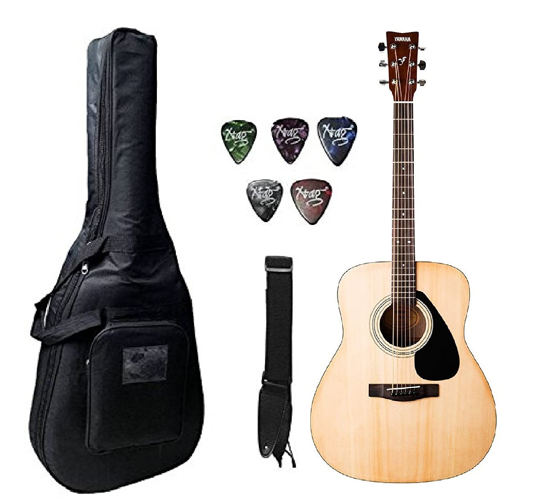 Yamaha F310 Nat Acoustic Guitar Natural With Case