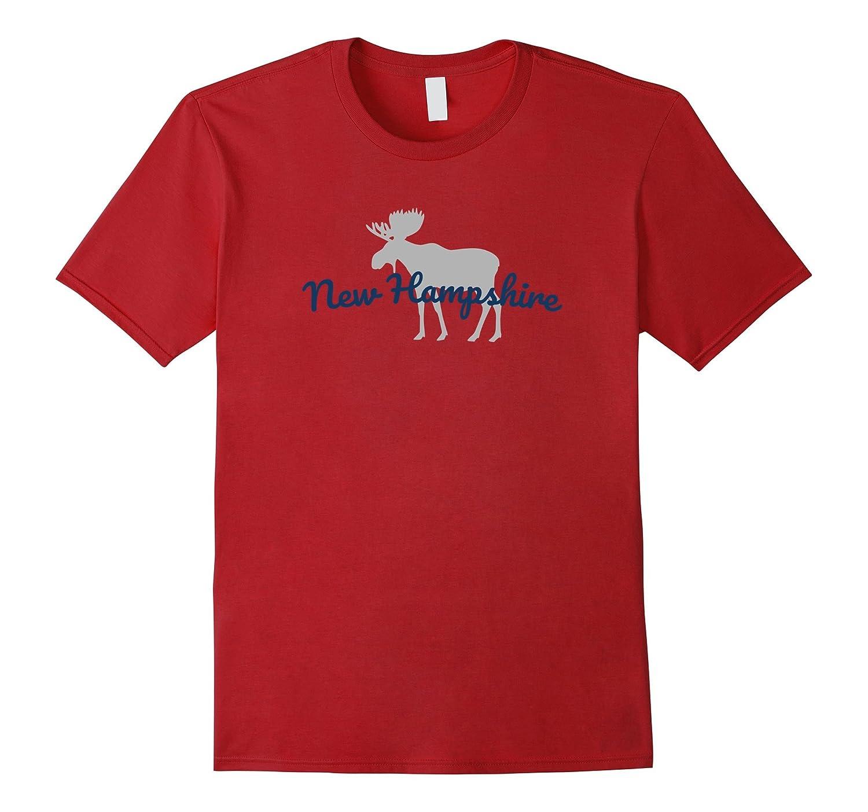 New Hampshire Moose T-Shirt - Souvenir or Vacation Gift-FL