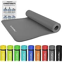 MSPORTS Gymnastikmatte Premium inkl. Übungsposter + Tragegurt | Hautfreundliche - Phthalatfreie Fitnessmatte 190 x 60 x 1,5 cm oder 190 x 100 x 1,5 cm - in verschiedenen Größen und Farben | Yogamatte