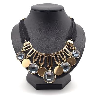 d64e69926fd5 La cadena de mujer collar oro cadena collar colgante cadena de eslabones  joyería eslinga buche cinta bisutería piedras preciosas  Amazon.es  Joyería
