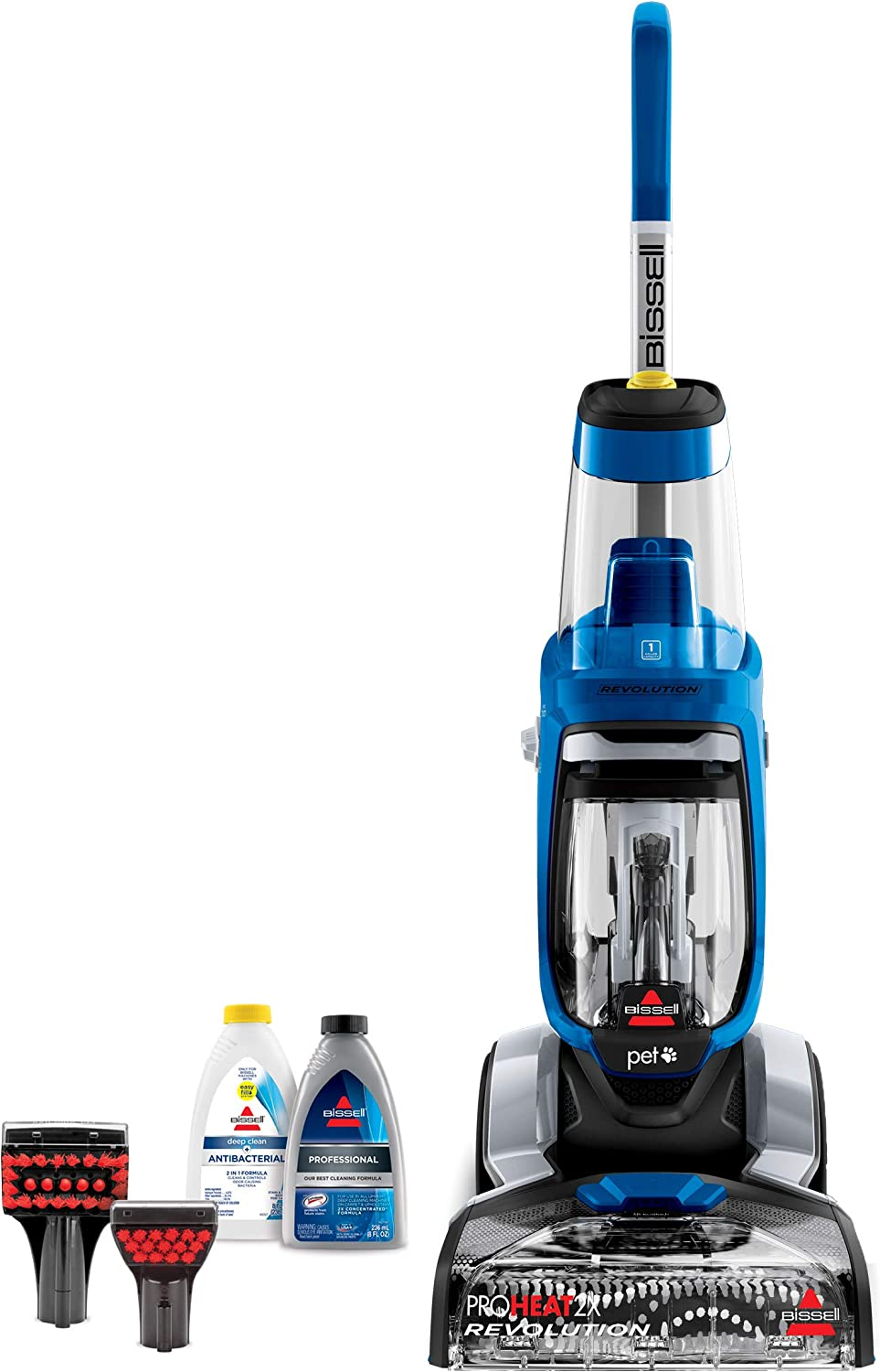 BISSELL ProHeat 2X Revolution Pet Full Size Upright Carpet Cleaner, 15489, Blue