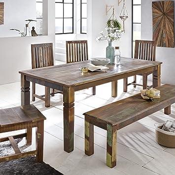 Esszimmertisch 120 x 70 x 76 cm Mango Shabby Chic Massiv-Holz ...
