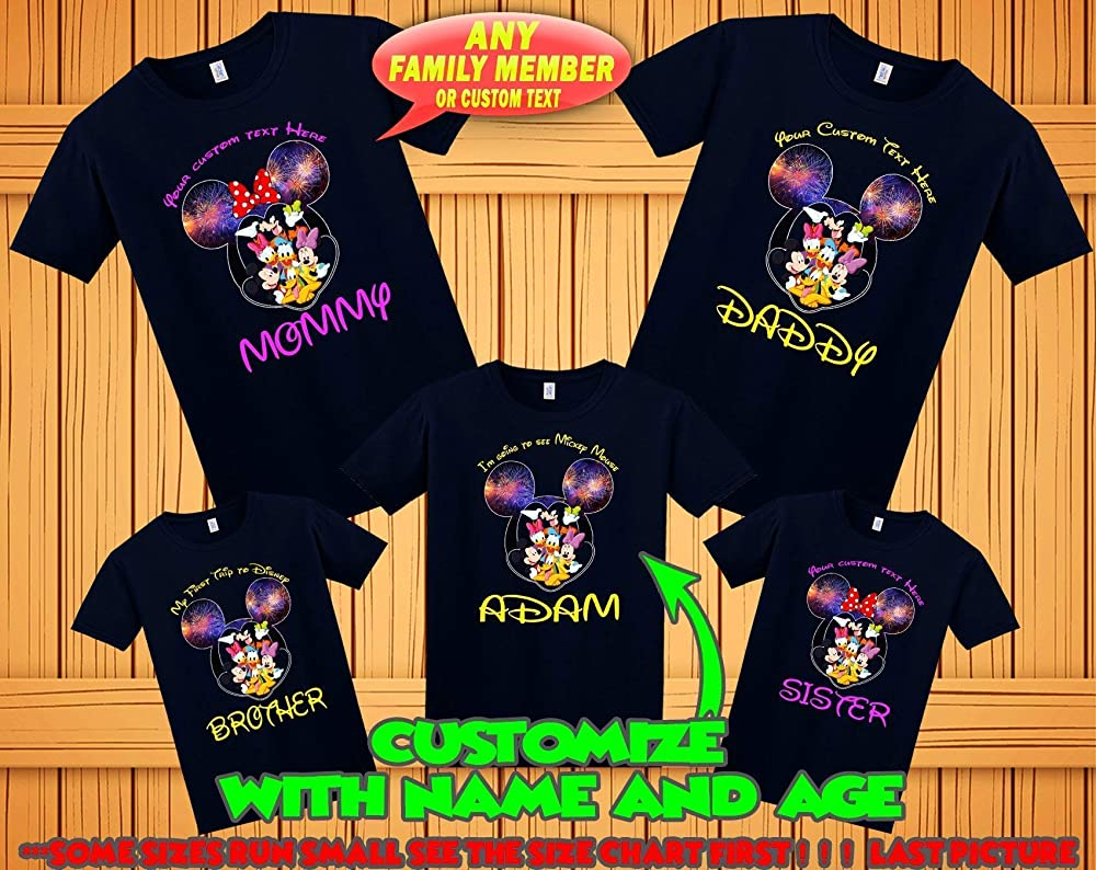 Disney Mickey Minnie Mouse Family Cute Men Women Unisex T-shirt V209