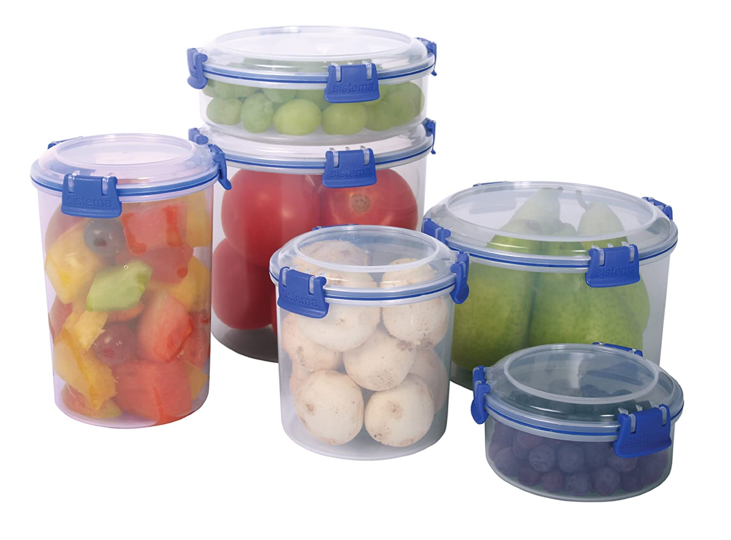 Amazon.com Sistema Klip It Collection Round Food Storage Container with Strainer 33.8 Ounce/4.2 Cup Food Savers Kitchen u0026 Dining  sc 1 st  Amazon.com & Amazon.com: Sistema Klip It Collection Round Food Storage Container ...