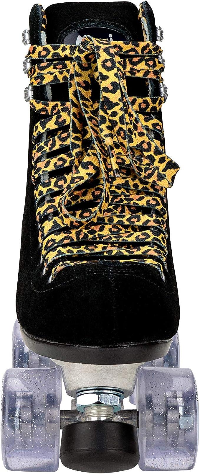 Moxi Panther Set Rollschuhe Wildleder schwarz