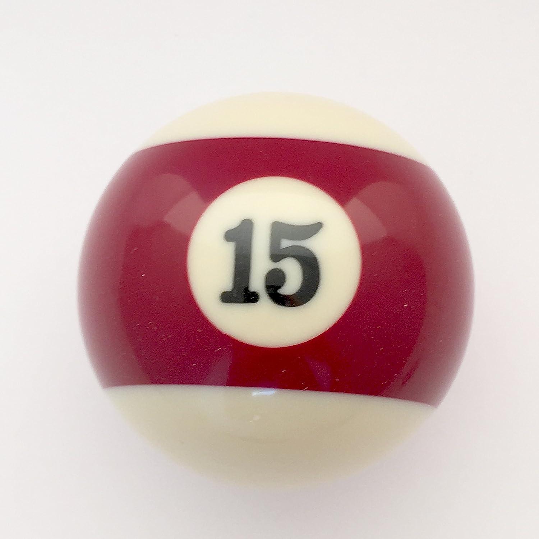 # 15 replacement billiard pool ball, maroon striped Billiard Supplies