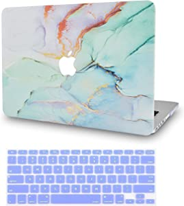 LuvCase2in1Laptop Case Compatible with MacBookAir 13 Inch (2010-2017) A1466/A1369 (No Touch ID)RubberizedPlasticHardShellCover &KeyboardCover (Purple Blue Marble)