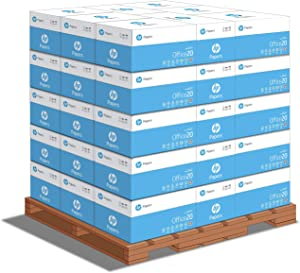 HP Printer Paper   8.5 x 11 Paper   Office 20 lb   1 Pallet - 40 Cartons - 200,000 Sheets   92 Bright   Made in USA - FSC Certified   112101P