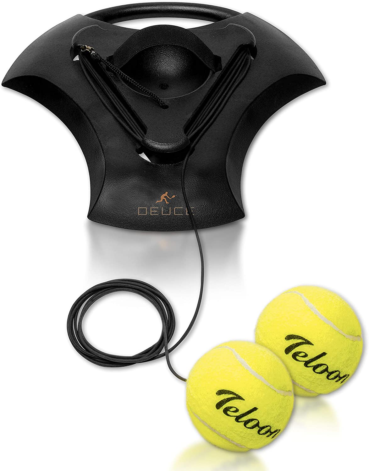 DEUCE Tennis Training Self Trainer Pro Tennis Equipment for Tennis Sports Training – Includes 2 Balls, 2 Elastic Cord and Weighted Base - Enhance Cardio, Stamina, Quickness and More : Sports & Outdoors