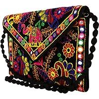 Craft Trade Handmade Designer Embroidered Rajasthani Clutch Bag For Women's