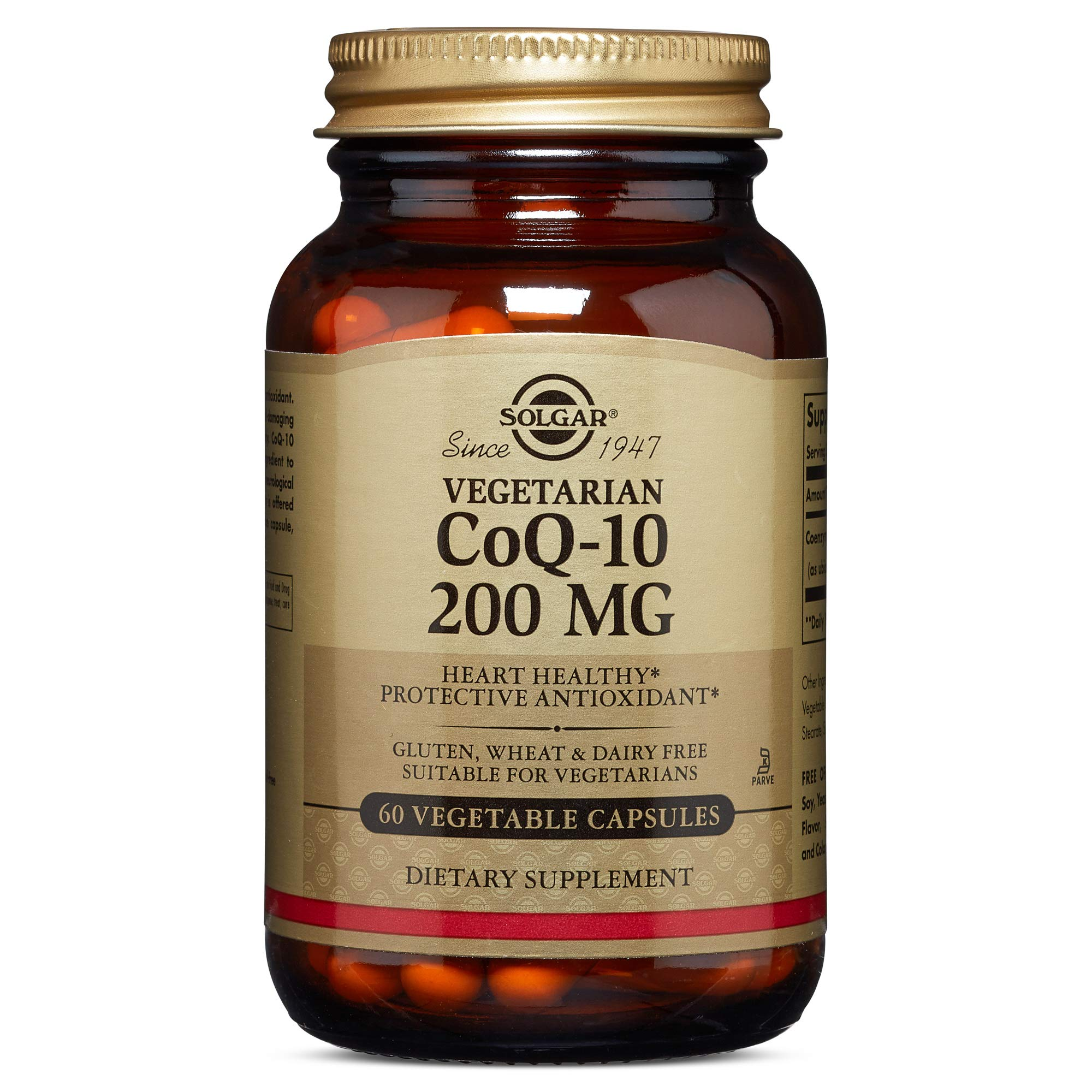 Solgar - Vegetarian CoQ-10 200mg, 60 Vegetable Capsules - Supports Healthy Aging