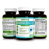 8 in 1 Advanced Immune Defense Formula – Vitamin C Elderberry VIT D3 5000 IU Zinc L-Lysine Echinacea Garlic Bee Propolis – 60 Capsules – Non-GMO, No Preservatives, Wheat Free, Gluten Free, Soy Free
