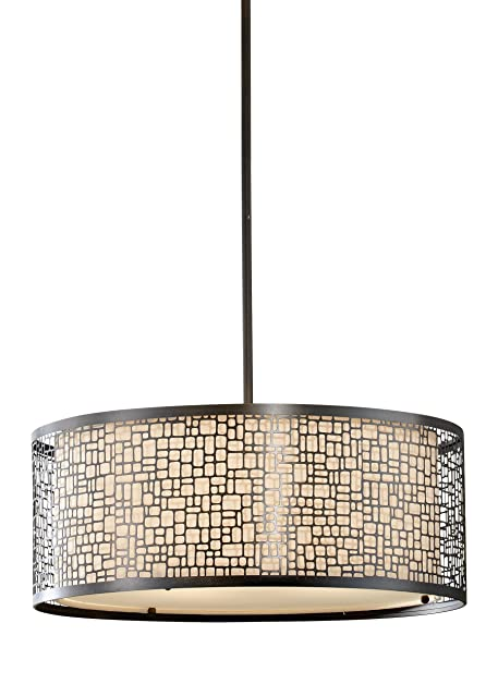 murray feiss f26383lab joplin collection 3light pendant light antique bronze finish