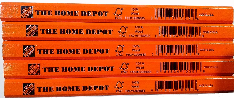 Home Depot Carpenter Pencil - 5 Pack