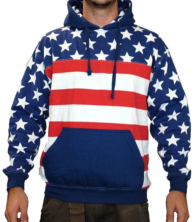 Exist Unisex Proud American Flag Pullover Hoodie Sweatshirt