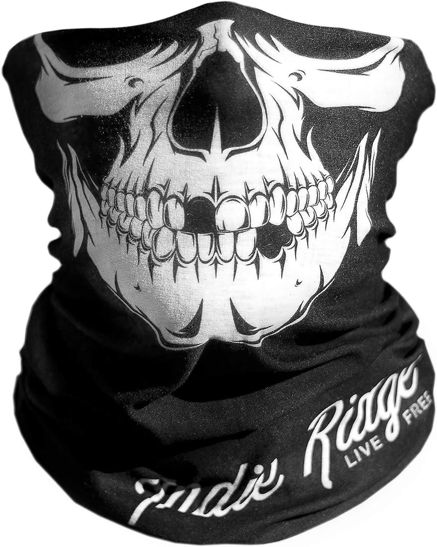 Skull Outdoor Motorcycle Mask By Indie Ridge - Ski Snowboard Mask Seamless Headwear: Automotive