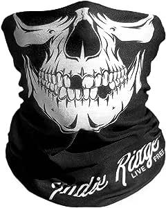 Indie Ridge Skull Outdoor Motorcycle Mask Ski Snowboard Mask Seamless Headwear Black