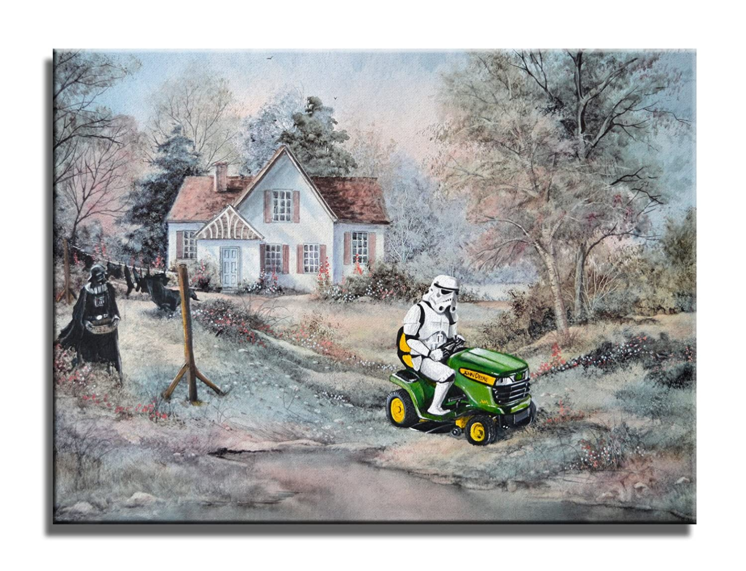 David Irvine Signed Authentic Official Pop A A Summer Place Stormtrooper Tractor Wrap Canvas Wall Art D/écor at 18in by 24in CNVDRV001