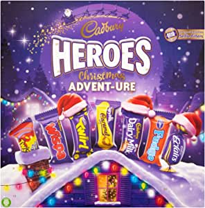Cadbury Heroes Christmas Adventure Chocolate Advent Calendar, 232 G, Pack of 4
