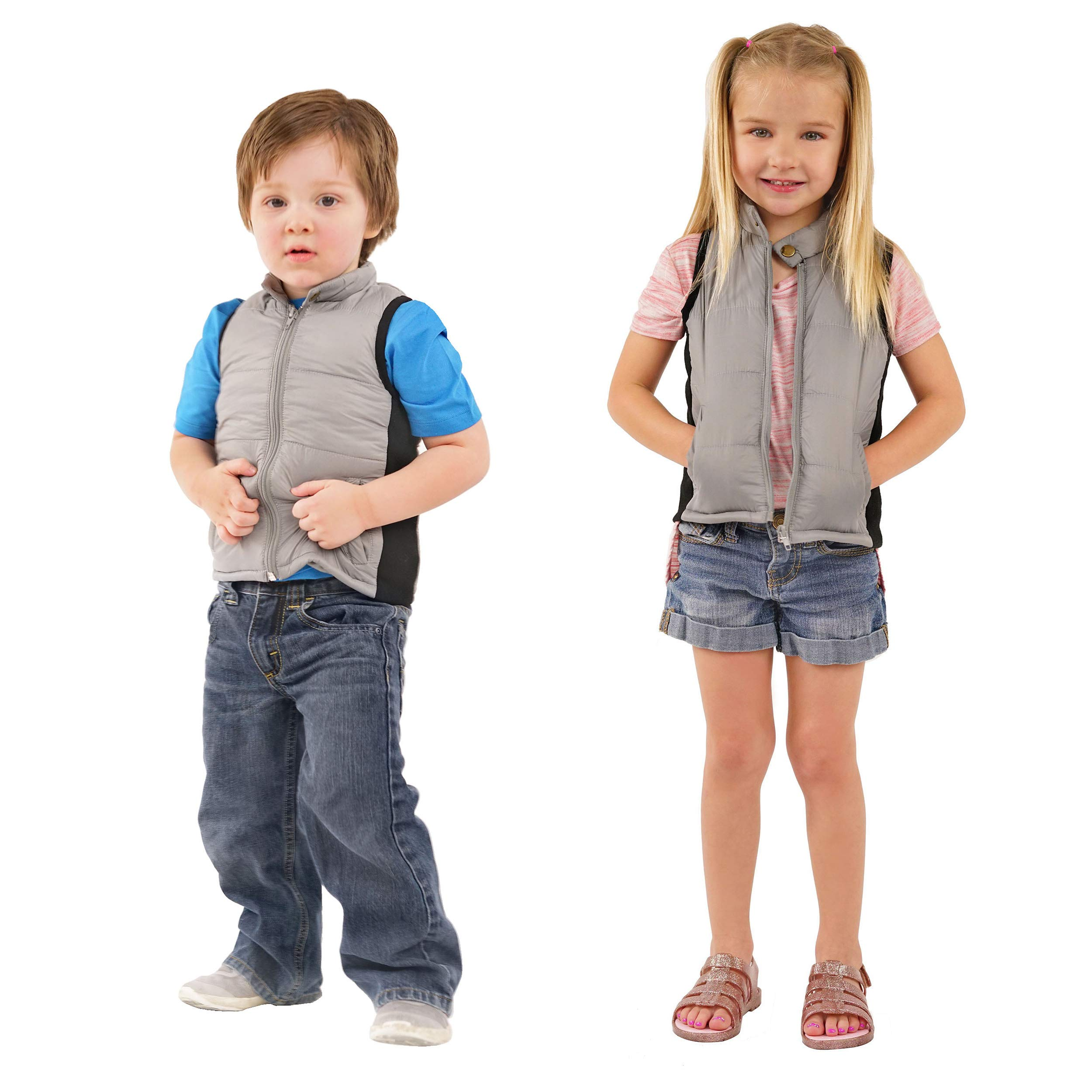 ZooVaa Weighted Vest for Kids - Children's Youth Nylon Sleek Vest w/Removable Weights - Medium -16-CCT-202MG by ZooVaa