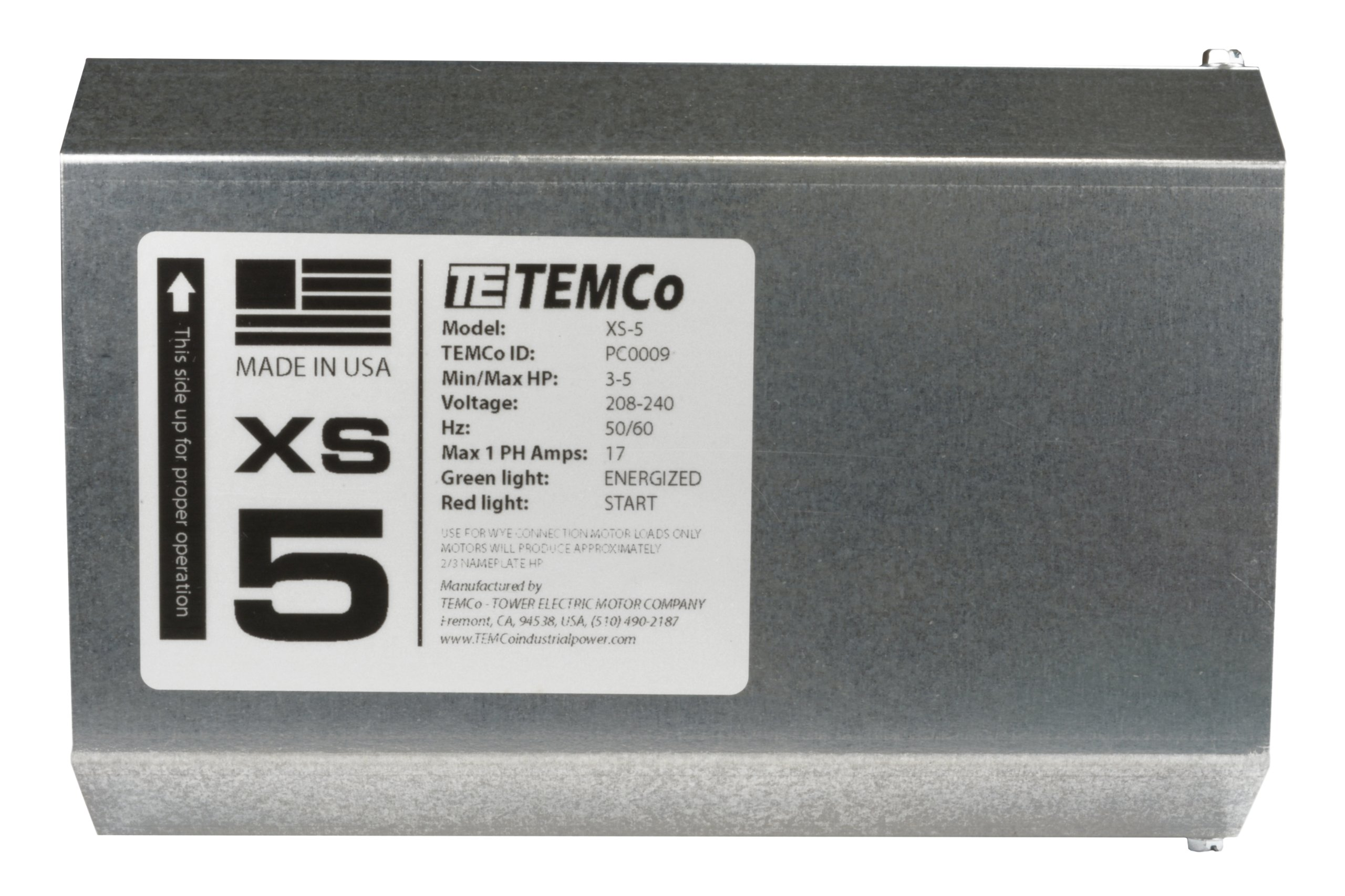 TEMCo XS5 Static Phase Converter PC0010 - HD 3 - 5 HP Mill Drill Saw MADE IN USA Single to three 5 Year Warranty