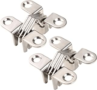 HWMATE Hidden Gate Hinge Stainless Steel Invisible Door Hinges 45mm//1.77 Door Blind Cross Hinge 180/º