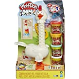 Play-Doh Animal Crew Cluck-A-Dee Feather Fun Chicken Toy Farm Animal Playset with 4 Non-Toxic Colors