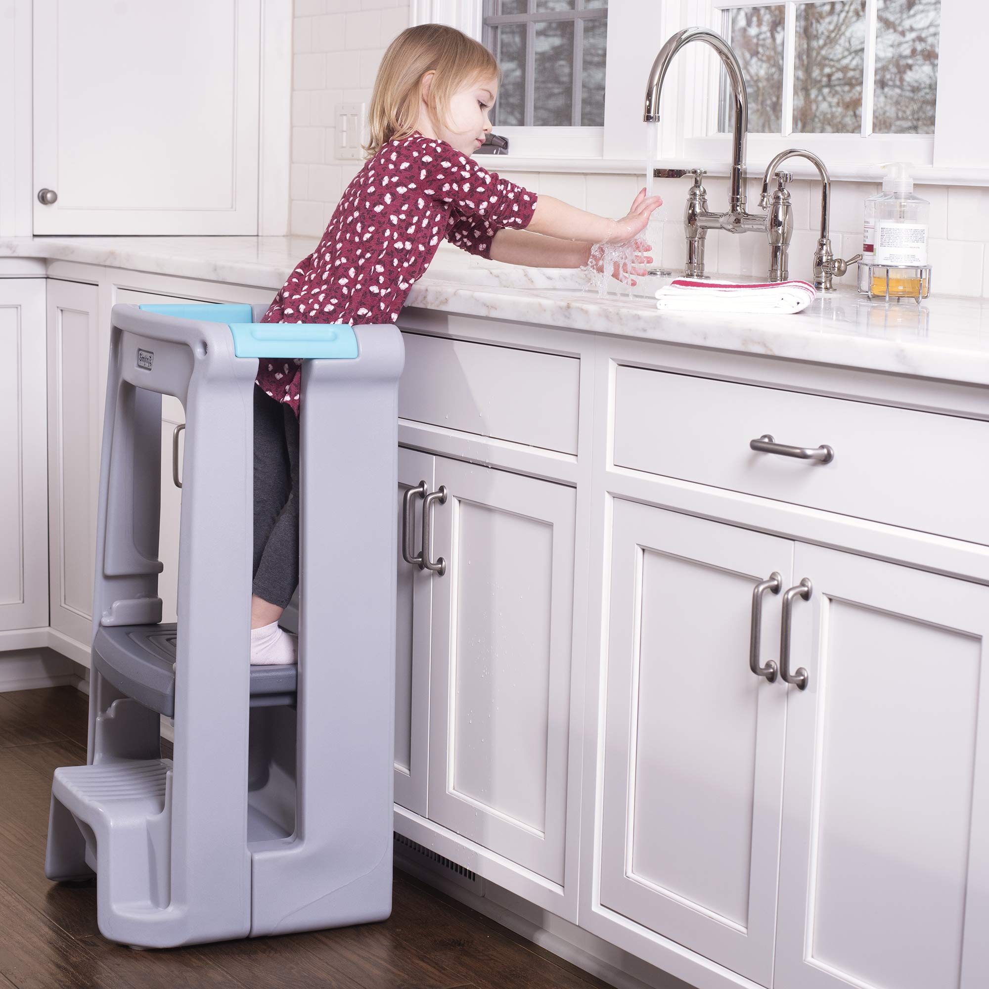 Simplay3 Toddler Tower Childrens Step Stool with Three Adjustable Heights, Gray by Simplay3 (Image #7)