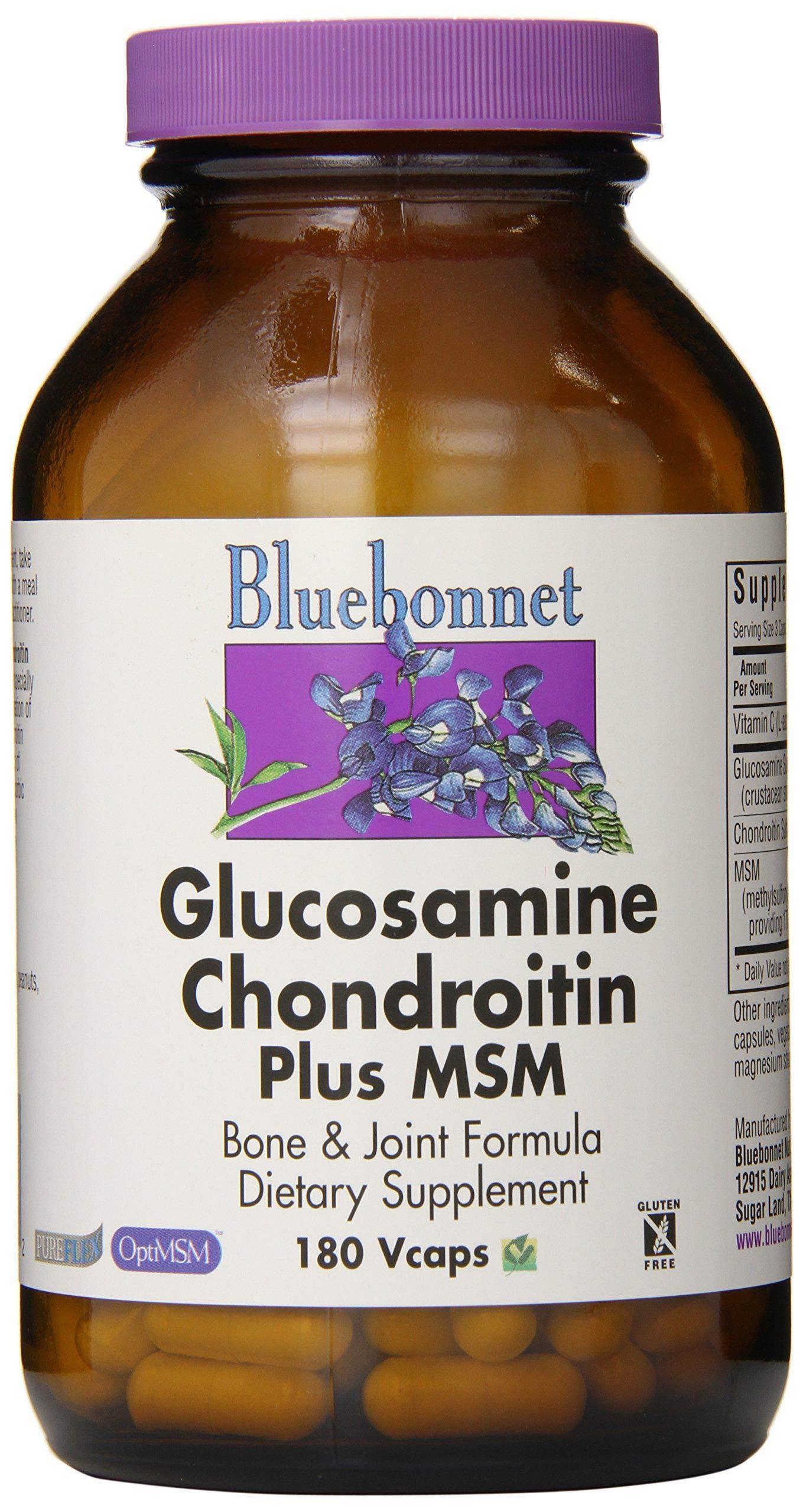BlueBonnet Glucosamine Chondroitin Plus MSM Supplement, 180 Count by Blue Bonnet