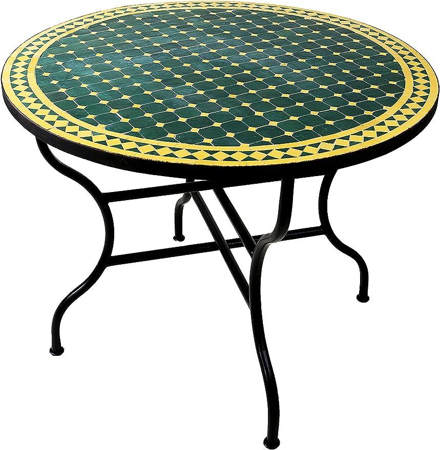 Original marroquí mosaico mesa mesa (Diámetro 100 cm Grande ...