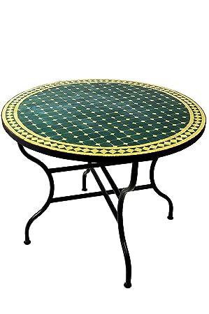 Table Basse en mosaïque Marocaine ø 100 cm Ronde, Petit mosaïque ...
