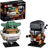 LEGO BrickHeadz Star Wars The Mandalorian & The Child 75317 Building Kit, Toy for Kids and Any Star Wars Fan Featuring Builda