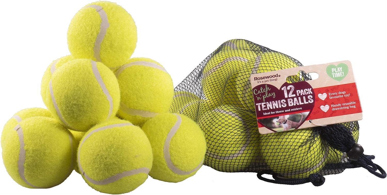 Rosewood Pelotas de Tenis estándar para Perros, 12 Unidades ...