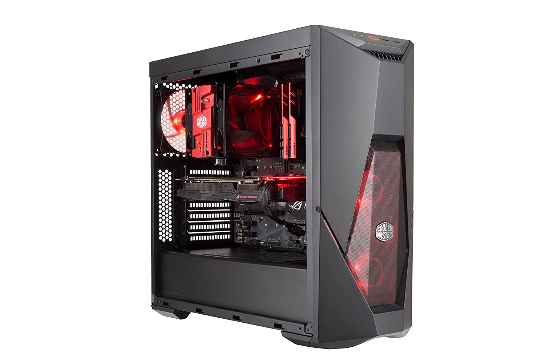 Cooler Master MasterBox K500L Computer Case ATX Mini-ITX Red LED Fans Micro-ATX Acrylic Side Panel MCB-K500L-KANN-S00