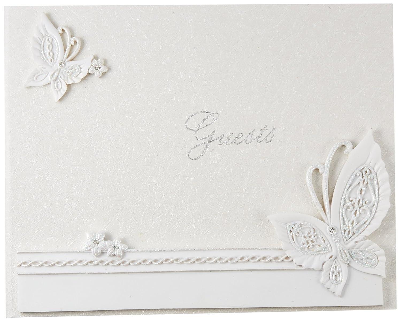 Farfalla disegno wedding guest book Fashioncraft 2414