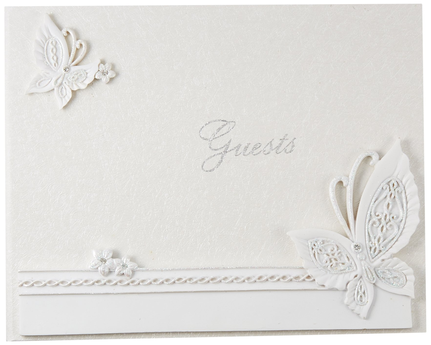Butterfly Design Wedding Guest Book by Fashioncraft
