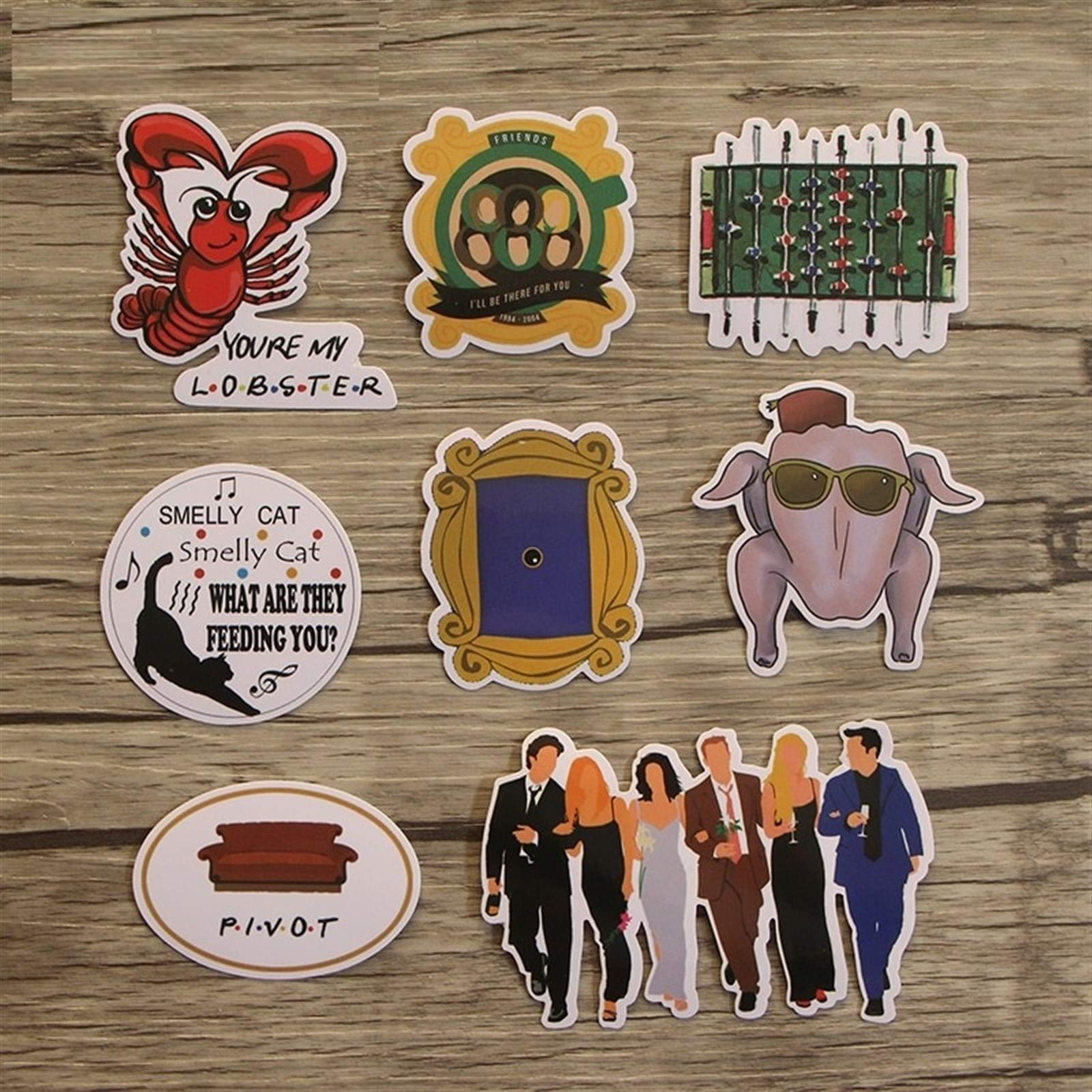 Your store 33pcs Friends tv Show Funny Creative Badges DIY Decorative Stickers Cartoon PC Wall Notebook Phone Home Garden by Your store (Image #4)