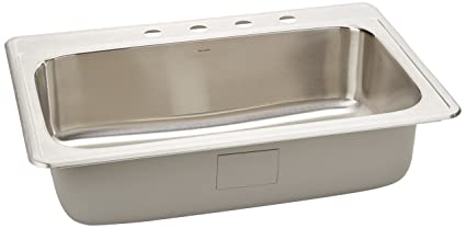 single steel in stainless bowl sink self home inch kitchen product drop rimming garden