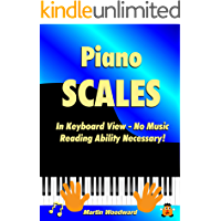 Piano Scales In Keyboard View - No Music Reading Ability Necessary! book cover
